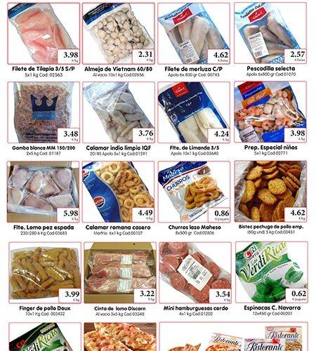 Comprar pescado congelado, ofertas 2014