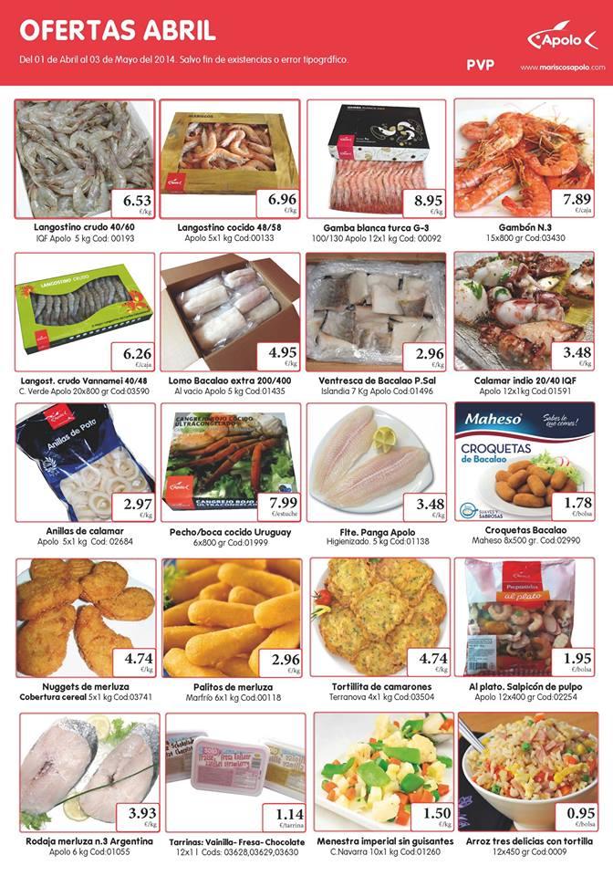 ofertas pescado congelado abril, Mariscos Apolo