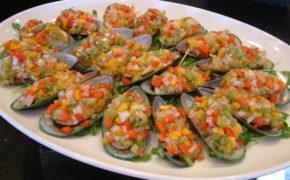 ensaladas con pescado y marisco congelado