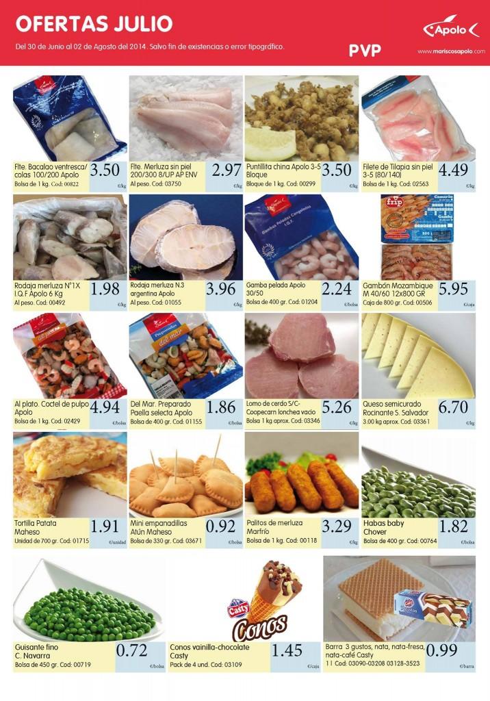 pescado congelado de oferta