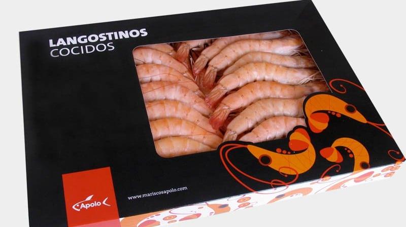 langostino cocido Mariscos Apolo