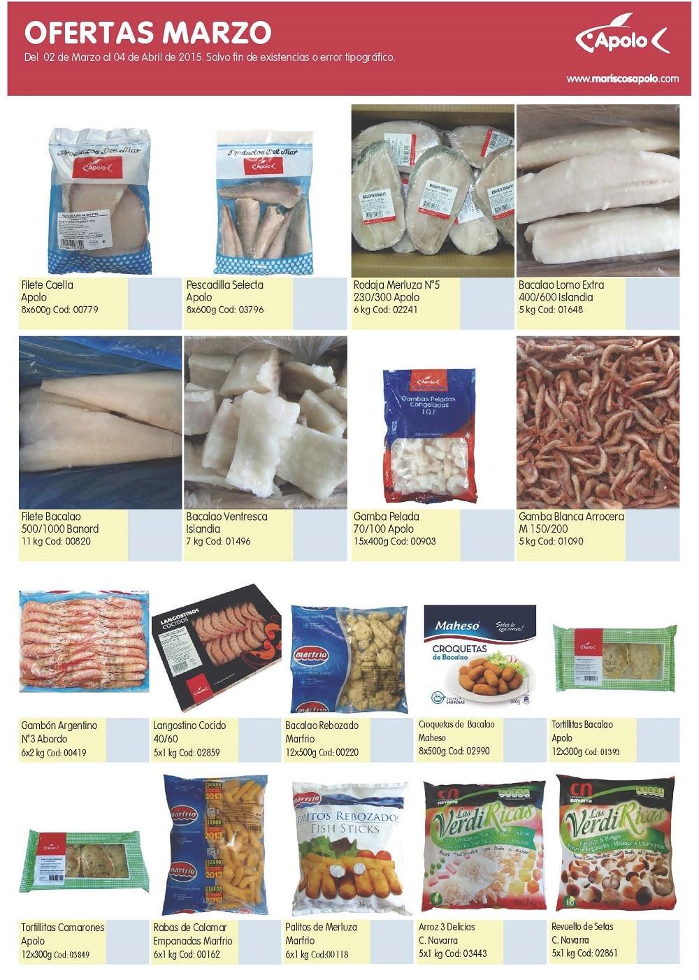 ofertas mariscos apolo marzo