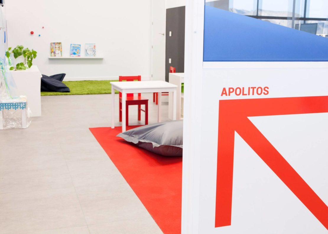 zona infantil en instalaciones Congelados Apolo