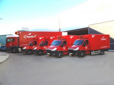 Flota de camiones para distribución Congelados Apolo