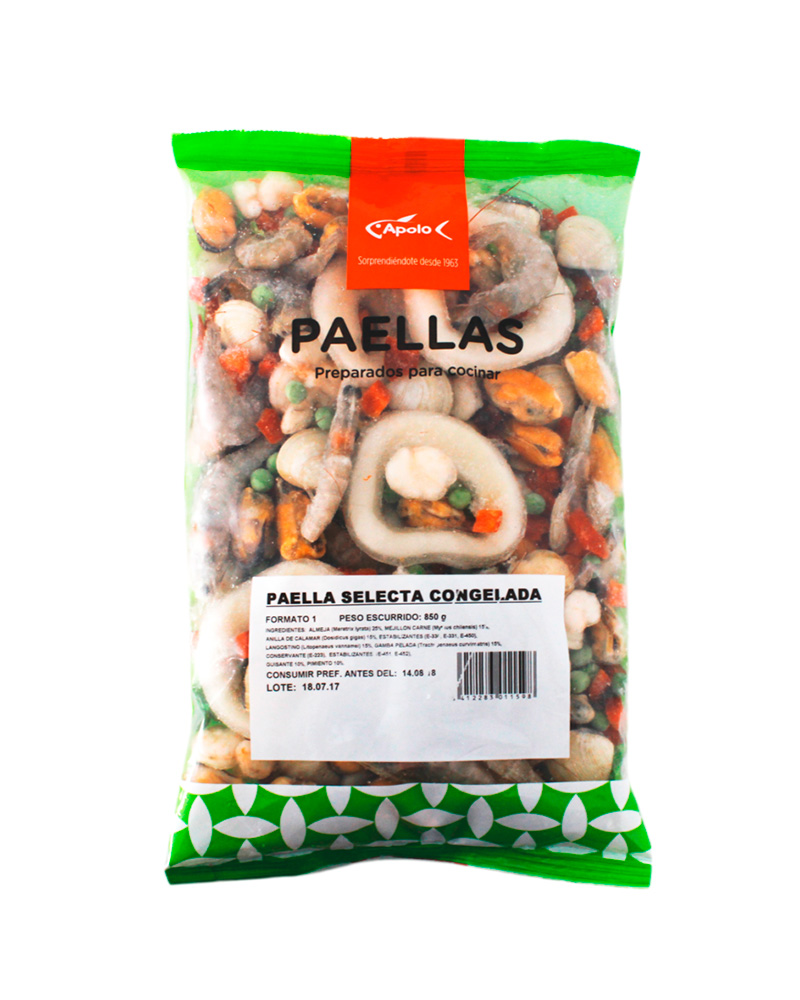 Paella selecta congelada Apolo