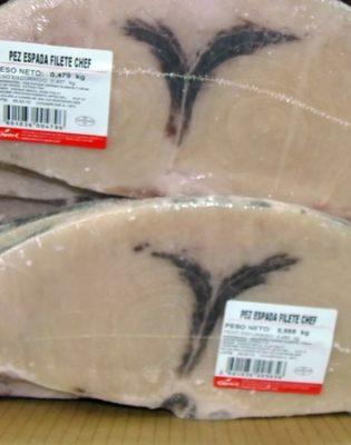 Filetes de pez espada Chef - Congelados Apolo