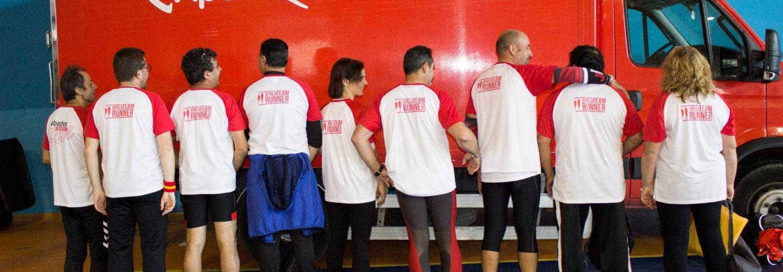 Apolo en Abades Stone Race 2018 con el Langostino Solidario