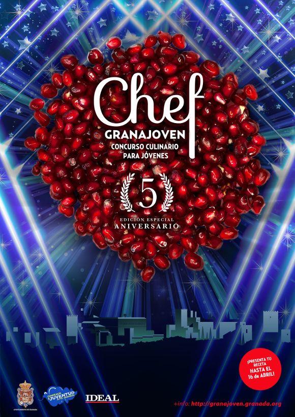 Ya hay ganador del Chef Granajoven 2018 - Gastronomía Granada cartel concurso