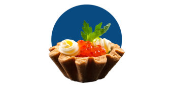 Receta Navideña: Tartaletas de salmón, caviar y mantequilla