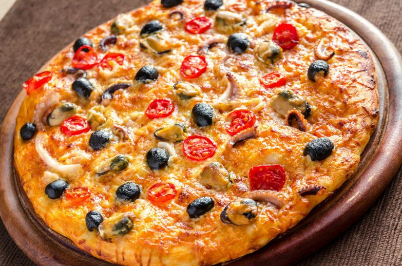 Como Hacer Pizza De Marisco